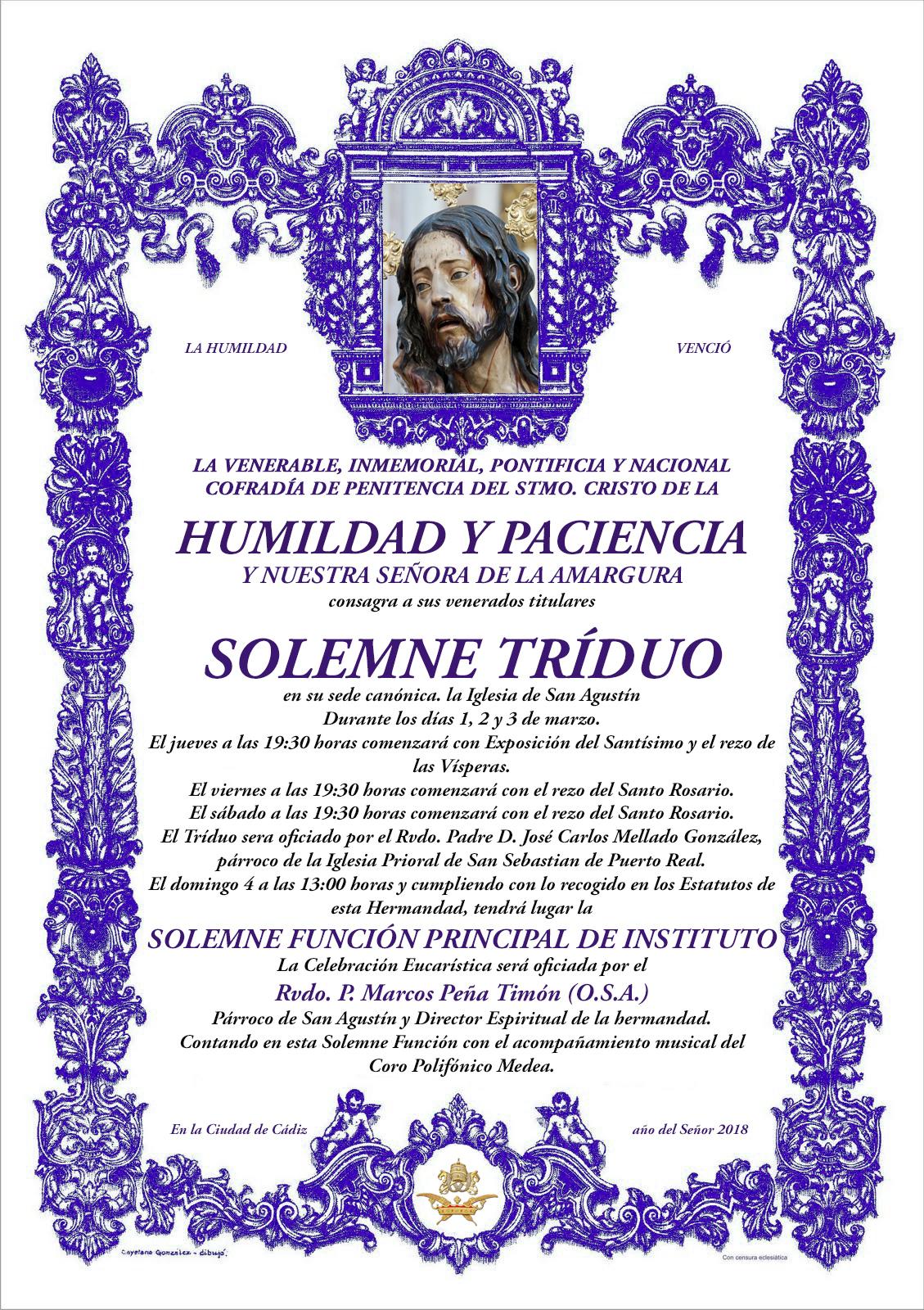 Cultos Humildad 2018
