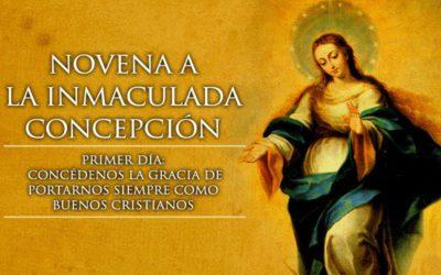 Novena a la Inmaculada Concepción de María. 1 de Diciembre. 19:10 horas.