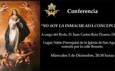 """Conferencia """"Yo Soy la Inmaculada Concepción"""" (5/12/18)"""