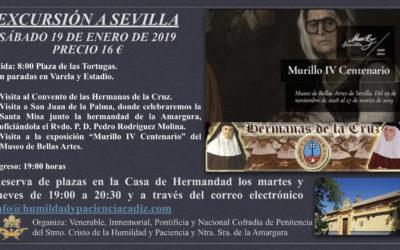 Excursión a Sevilla, sábado 19 de enero.