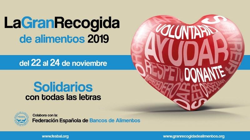 Vocalía de Caridad: Gran recogida para el Banco de Alimentos 2019.