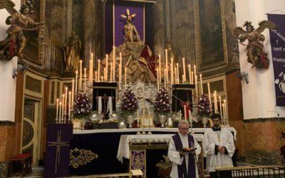 Misa de Palmas, iglesia parroquial de San Agustín