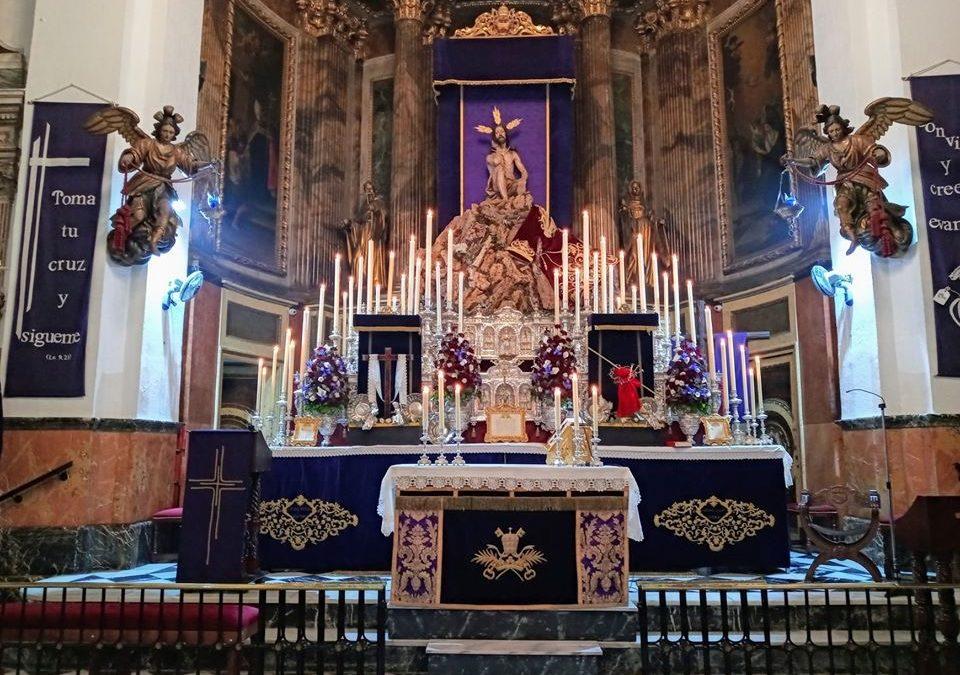 Desmontaje del Altar de Cultos Cuaresmales.