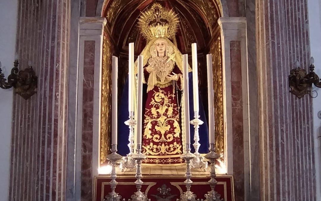 Mejoras en la luminaria de los altares de nuestros Titulares.