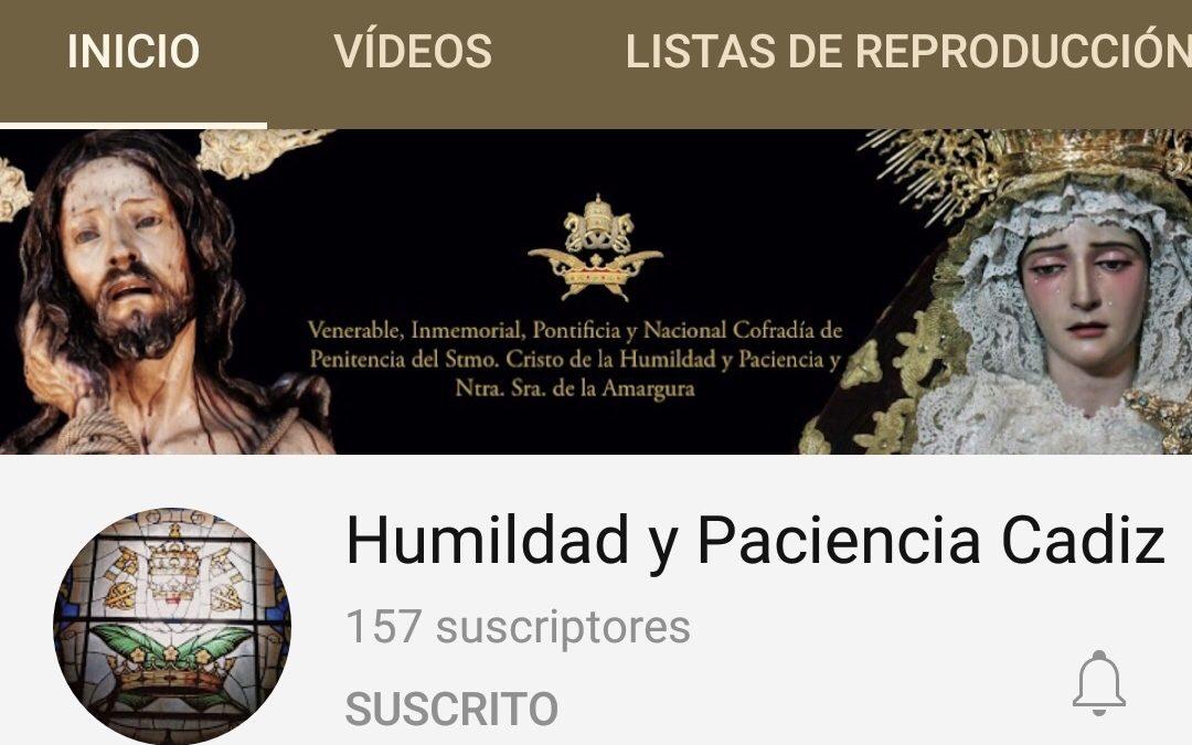 Suscríbete a los canales de Youtube de las Hermandades de Cádiz.