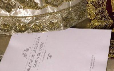 Pregón de la Semana Santa a los pies de Ntra. Sra. de la Amargura.