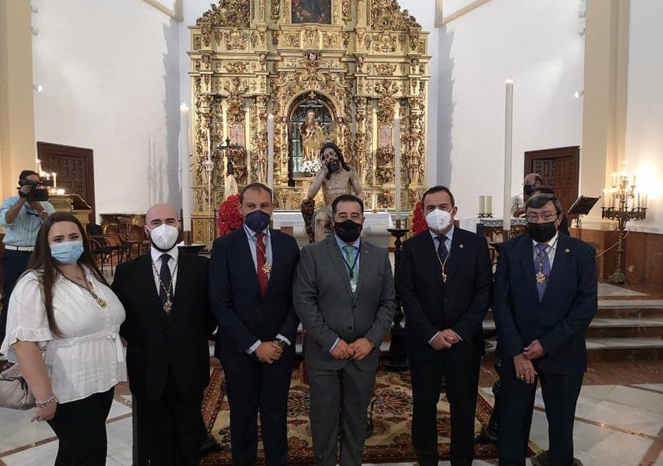 Asistencia corporativa a la reposición al Culto del Stmo. Cristo de la Humildad y Paciencia de Jerez de la Frontera.
